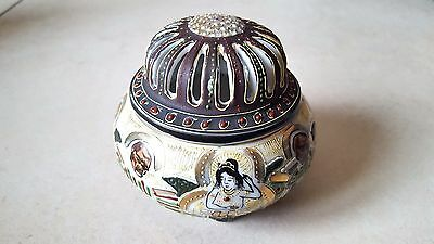 Brûle encens SATSUMA porcelaine JAPAN début XXem porcelain incense holder 中國瓷器香座