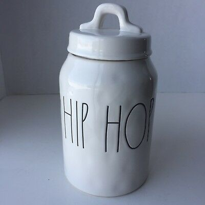 """Rae Dunn HIP HOP Canister 8"""" LL Large Letter by Magenta Easter - Great Dimples!"""