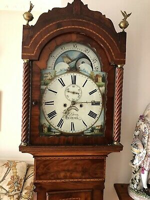 Antique Welch Grandfather Clock With Moon Phase 8day Ganz Swansea