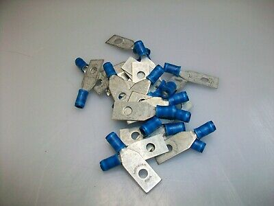 Pack Of 25 Mil Spec 16-14 Awg 14-23 Blue  Insulated Termimnal Lugs