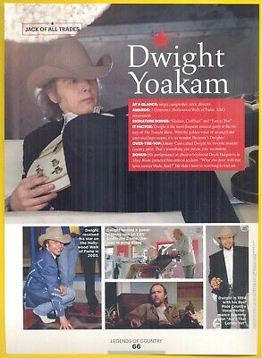 Dwight Yoakam, Country Music Star in 2014 Magazine Clipping. Jack of All Trades