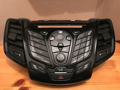 Ford Fiesta Audio Control Fascia Panel 2013-2017 Part Number Ba61-18A802-Baw