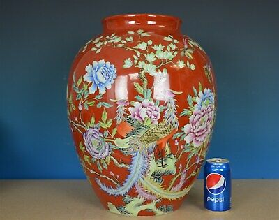 Stunning Antique Chinese Famille Rose Porcelain Vase Marked Qianlong Rare Y7666