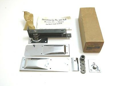 Vintage New / Nos 1940'S National Mfg No 240 Ball Bearing Floor Hinge In Box
