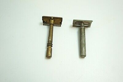 Lot Of 2 Vintage Safety Razors - Gillette And Gem Micromatic