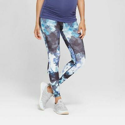b07fa1448f751 Isabel Maternity Crossover Panel Active Printed Legging Lilac Floral XS-XXL  #t73