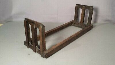 Arts And Crafts Folding Book Ends Holder Craftsman Vintage Antique Old Oak