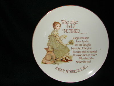 "VINTAGE HOLLY HOBBIE /""THANKS FOR THE KIND /& THOUGHTFUL WAYS/"" PLATE JAPAN"