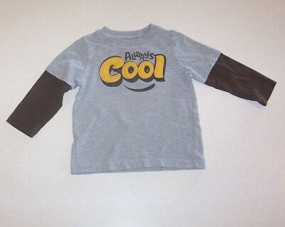Infant Boy's Circo Gray & Brown Appliqued Cotton Knit T-Shirt 18 Month