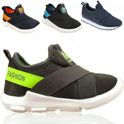 Boys Girls Kids Infant  Sports Trainers Running Children Lace Up Casual Shoes UK