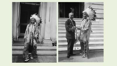 1929 Chief Red Tomahawk PHOTOS Lot, He Killed CHIEF SITTING BULL, Sioux Indian