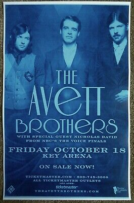 AVETT BROTHERS 2013 Gig POSTER Concert Seattle Washington