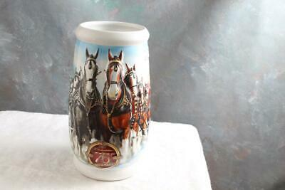 2008 Budweiser Holiday Stein Annual Clydesdale Christmas Beer Mug