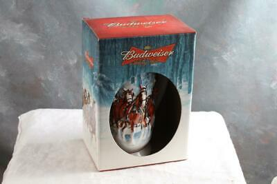 2007 Budweiser Holiday Stein Annual Clydesdale Christmas Beer Mug with Box
