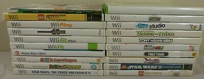Lot of 20 Nintendo Wii Games: Game Party 2, Star Wars, Lego, Mario Tennis