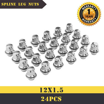 24pcs Chrome 12x1.5 MAG LUG NUTS FOR 2015 Toyota 4Runner WITH WARRANTY