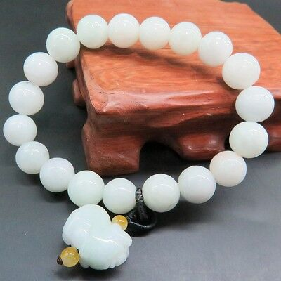 Real 100% A Grade Natural Jade/Jadeite Handcraved Lucky Many Beads Bracelet