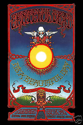 Psychedelic:  The Grateful Dead in  Hawaii Concert Poster from 1969