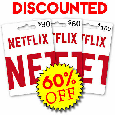 Netflix Gift Codes | $60 Redeem Code 55% OFF | LIMITED QUANTITY | EMAIL DELIVERY