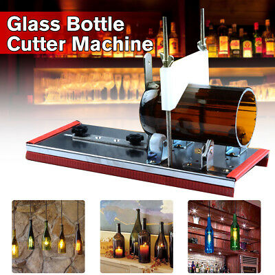 Glass Beer Wine Bottle Jar Accurate Cutter Machine DIY Recycle Cutting Tool