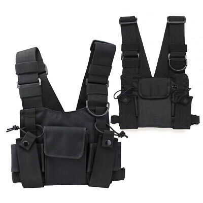 Accessory Chest Harness Bag For Walkie-talkie Front Pack Pouch Vest Radio Nylon