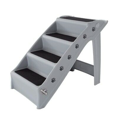 Folding Plastic Pet Stairs Plastic Steps Portable Durable Indoor Outdoor 4 Step