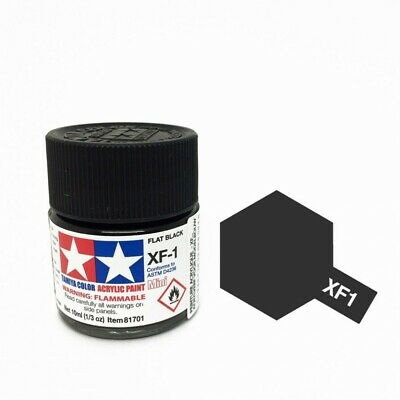 Tamiya Acrylic Paint 10ml # XF-1 Flat Black For Model Kit Japan New Free Ship