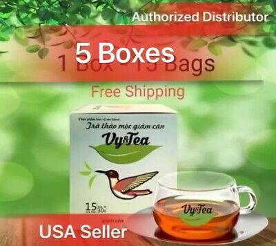 5 boxes of Vy & Tea Herbal Slimming Tea., lose weight /Tra Thao Moc Giam Can.