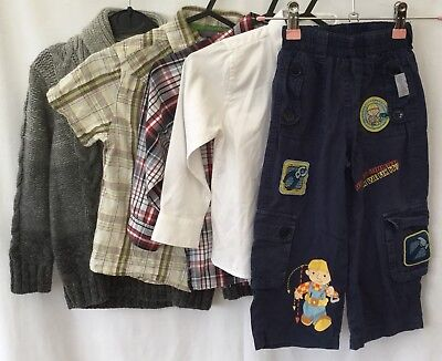 Boys Bundle Of Clothing Age 2-3 Baby Gap Bob The Builder Next <H510