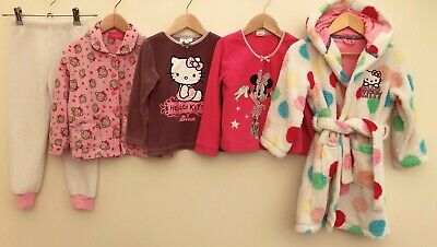 Girls Nightwear Bundle 3-4 Disney Hello Kitty M&S <D6472
