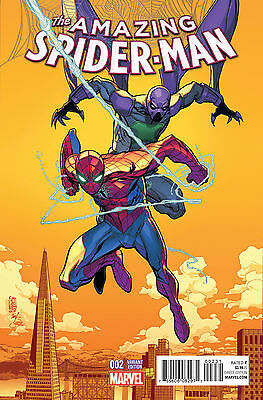 AMAZING SPIDER-MAN #2 CAMUNCOLI 1:25 VARIANT 2015 NM 1st PRINT BAGGED & BOARDED