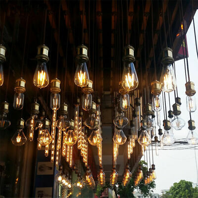 LED E27 E14 Vintage Filament Edison Retro Light Bulb Antique Screw Lamp 40W UK