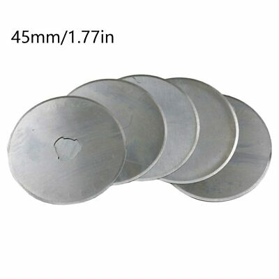 5pc 45mm Rotary Cutter Blades Craft Paper Cut Hand Held Scrap Booking Replacemen