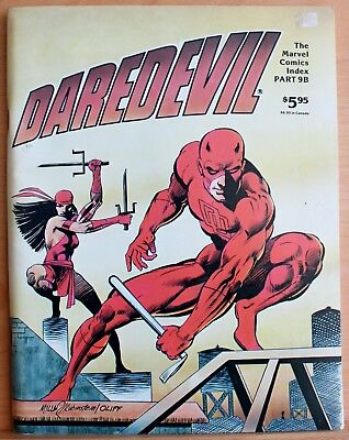 Marvel Comics Index 9B Daredevil & Black Panther a vfn- 1982 bronze age