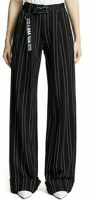 Women's Simple Slimming Trousers Temperament Loose Casual Striped Wide Leg Pants