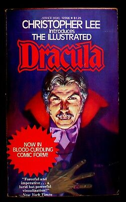 """The Illustrated """"Dracula"""" intro - Christopher Lee a VG- 1975 US Manor paperback"""