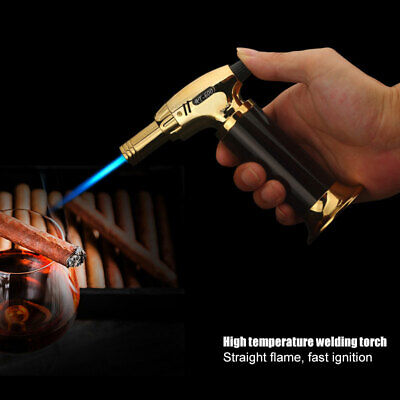 Windproof Refillable Lighter Butane Inflatable Torch Fuel Jet Flame Outdoor Gift