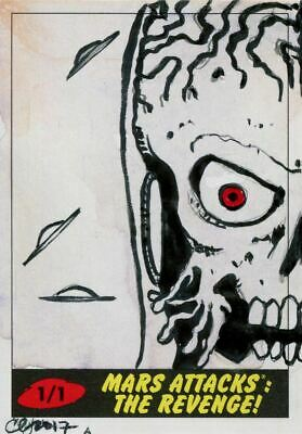 Mars Attacks The Revenge Sketch Card By Clinton Yeager