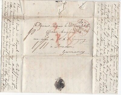 1803 Newport Isle Of Wight Mileage Pmk Chatty Letter > Col Campbell In Germany
