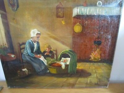 antique  18th/19th century oil painting signed N Heil
