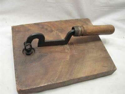 Blacksmith Hand Forged Butcher Block Knife Cleaver Tool Tobacco Cutter Chopper