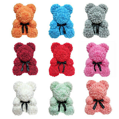 25cm Rose Bear Teddy Bear Huge Luxury Foam Birthday Wedding Mother's Day Gift H