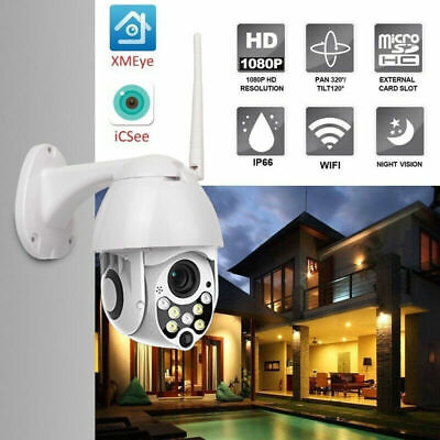 1080p PTZ Outdoor Dome WIFI IP Pan Tilt IR Night Vision Network Security Cameras