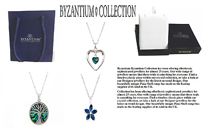 NEW Paua Shell Necklace Byzantium Collection With Gift Box & Gift Bag