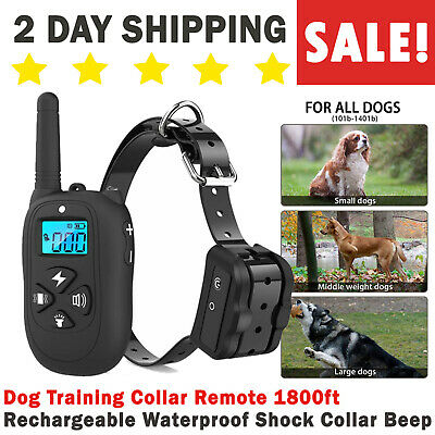 Rechargeable And Waterproof Electric Shock Dog Training e-Collar Remote Control