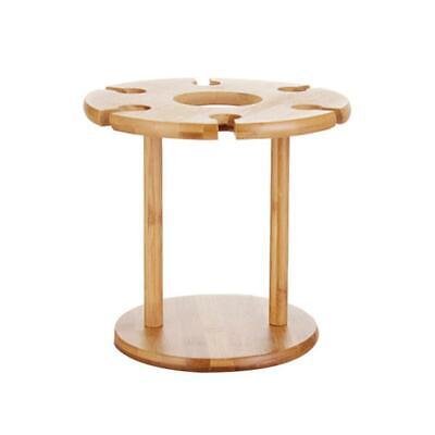 Bamboo Solid Wood 6 Hole Wine Rack Decor Stand Goblet Upside Down Wine Rack