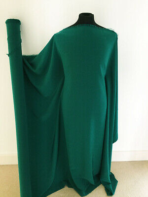 Jade Green Peach Touch Crepe de Chine Dressmaking Fabric