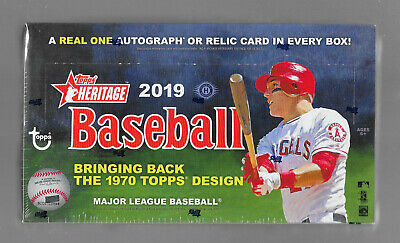 2019 Topps Heritage Baseball Hobby Box Factory Sealed 24 Packs 9 Cards.