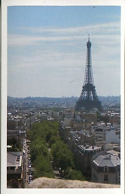 Post Card Of A View Of The Eiffel Tower And City View Of Paris