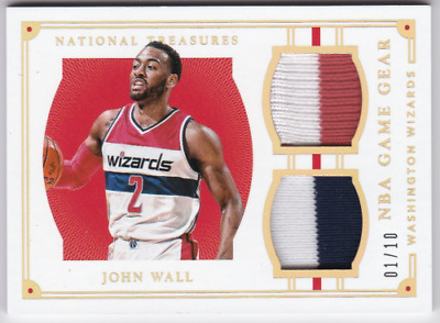 best authentic 4462a 70910 JOHN WALL 1/1 Jersey Numbered Lot 2015-16 National Treasures ...
